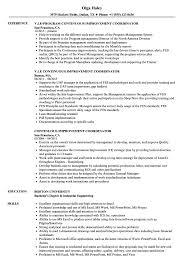 Continuous Improvement Coordinator Resume Samples Velvet Jobs