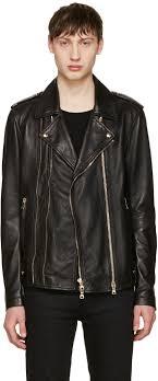 balmain black leather biker jacket men balmain t shirt superior quality