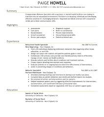 Social Work Resume Sample Cool Social Worker Sample Resume Exceptional Social Worker Resume Samples