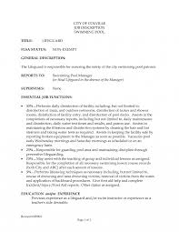 Resume Lifeguard Description Toreto Co Sample Pool Job Free Swim