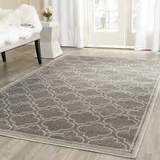 com safavieh amherst collection amt412c grey and light grey indoor outdoor area rug 10 x 14 kitchen dining