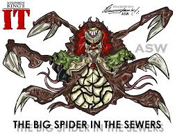 pennywise bob gray stephen king`s it fanart by alexgangstercomic  pennywise big spider final form stephen king`s it by alexgangster20comic