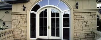arched aluminum clad wood entry unit