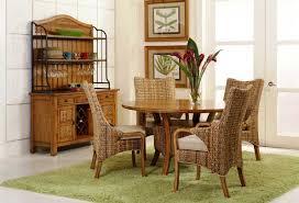 elegant wicker dining chairs