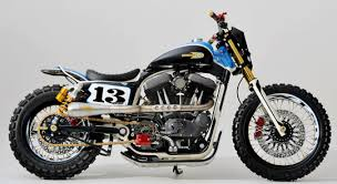 custom dirt track style harley sportster at cyril huze post