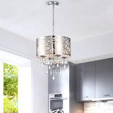staggering 4 light crystal chandelier nerisa 4 light chrome semi flush mount crystal chandelier