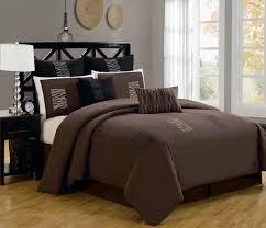 image of brown and white comforter set