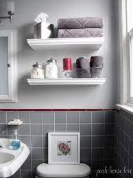 small white bathroom wall shelf off 63