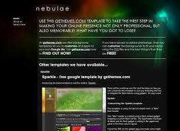 Google Site Templates Nebulae Free Google Sites Template Gethemes Com Free