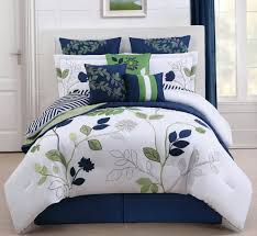 blue and white duvet covers queen