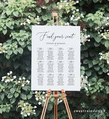 Rustic Wedding Seating Chart Template Find Your Seat Sign