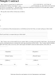 Simple Contract Template Choice Image - Template Design Free Download