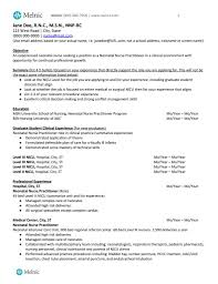 Neonatal Nurse Practitioner Sample Resume For Job Seekers Melnic