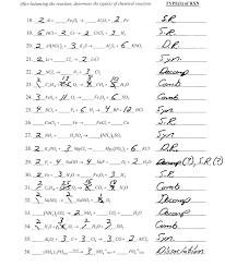 balancing equations worksheet answer key physical science if8767 activity series worksheet worksheets