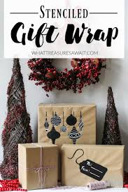 Design Your Own Wrapping Paper Cute Wrapping Paper With Diy Stencils What Treasures Await