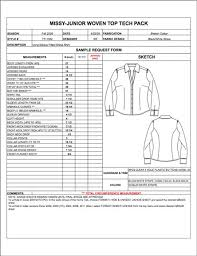 product spec sheet template junior spec sheet sample womens mens childrens plus