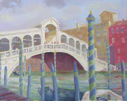 venice painting venice rialto bridge by robert p hedden