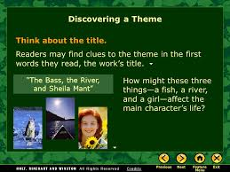 the elements of fiction ppt 55 ldquothe bass the river and sheila mantrdquo
