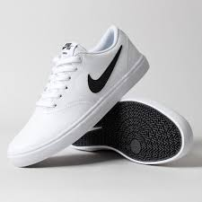 white sneakers nike sb check solarsoft leather shoes mens white