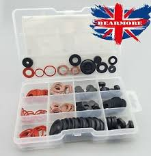 Details About 144 X Assortment Box Of Plumbers Washers Tap Sealing Hose Shower Rubber Washers
