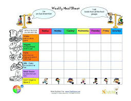 Printable Weekly Menu Planner With Nice Bright Colors Organize Free