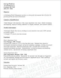 Resume Objective Examples For Retail Sample Retail Customer Service Resume Objective For Example High