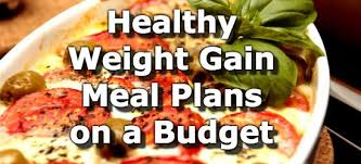 healthy weight gain meal plans for