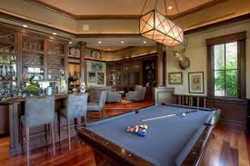 Billiard rooms with bars.