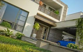 Small Picture 3D Front Elevationcom Modern House Plans House Designs in