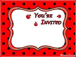 Ladybug Invitations Template Free Cool Free Ladybug Invitation Templates Picture Mericahotel