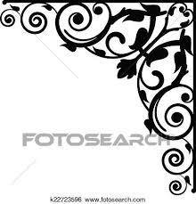 Vignette Design Vector Floral Vignette Clip Art K22723596 Fotosearch