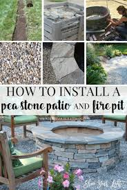 how to install a pea stone patio and build a stone veneered fire pit from