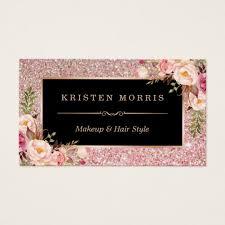 fl rose gold glitter makeup artist hair salon business card