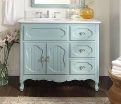 42 Bathroom Vanities 42 Inch Antique Cottage Bathroom Vanity Light Blue Finish White
