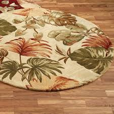 tropical area rugs palm leaf round rug cool best bath gold bathroom karastan company large