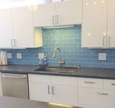 Innovation Kitchen Backsplash Glass Tile Blue Sky Subway Outlet E Intended Perfect Design