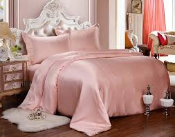 pale pink bedding set new home textile solid pink 100 mulberry silk bedding set 4pcs luxury
