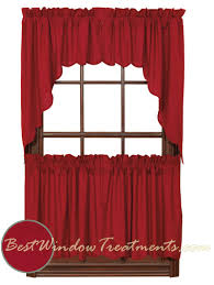 contemporary kitchen curtains red