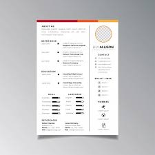 Professional Design Resume Professional Resume Design Template Minimalist Business