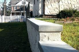 retaining wall cap blocks concrete landscape walls concrete cap on poured concrete wall with stucco finish precast concrete landscape blocks