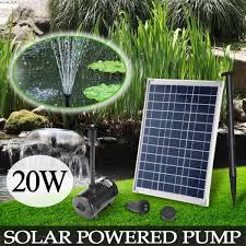 20w solar powered fountain outdoor pond pool submersible water feature pump kit tosave com