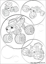 Blaze And The Monster Machines Coloring Pages At Getdrawingscom