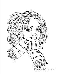 Black Kids Coloring Page Africanamericancoloringpage Adult