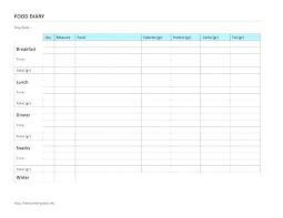 Food Log Spreadsheet Printable Spreadsheets Food Log Diary Template