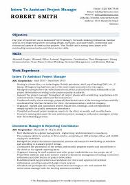 Construction Assistant Project Manager Resume Assistant Project Manager Resume Samples Qwikresume