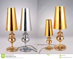 golden and silver table lamps luxury table lights stock