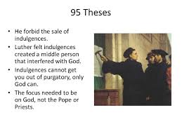 protestant reformation and catholic counter reformation ppt  95 theses he forbid the of indulgences
