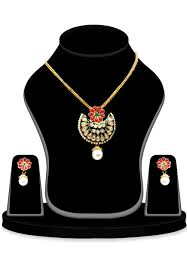 stone studded pendant set in multicolor zoom