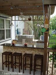 Wonderful Stone Patio Bar 20 Outdoor Ideas On Pinterest Diy Intended Perfect