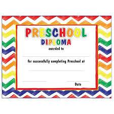 Prek Diploma Pre K Diplomas 5 49 Kindergarten Classic Diploma Certificate 8 1 2 X